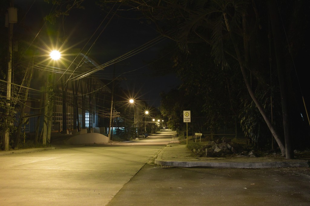 Unnamed streets.