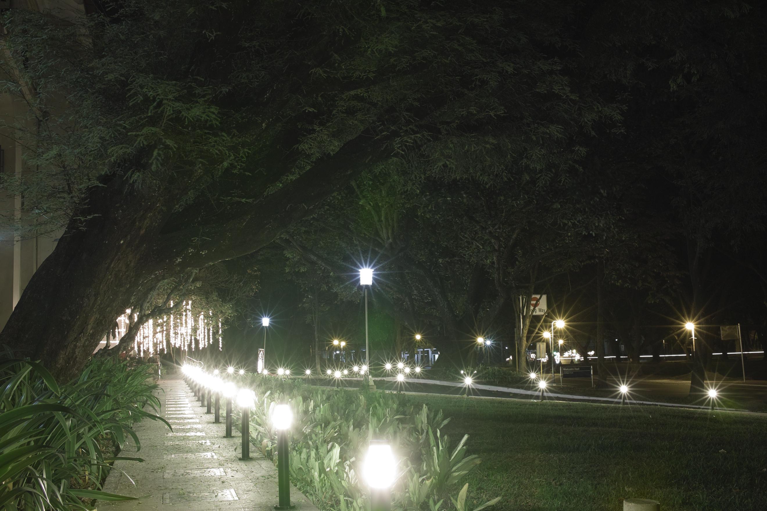 Liliputian street lamps